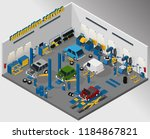 vector isometric illustration... | Shutterstock .eps vector #1184867821