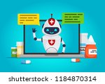 chat bot. online doctor future... | Shutterstock .eps vector #1184870314