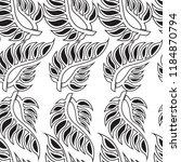 vector seamless floral pattern... | Shutterstock .eps vector #1184870794