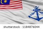 malaysia naval ensign flag ... | Shutterstock . vector #1184876044