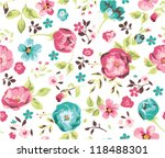 seamless beautiful flower... | Shutterstock .eps vector #118488301
