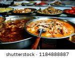crab curry and assortment of... | Shutterstock . vector #1184888887