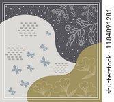 butterfly scarf pattern design | Shutterstock .eps vector #1184891281