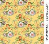 watercolor seamless pattern...   Shutterstock . vector #1184896684