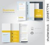 tri fold brochure design ... | Shutterstock .eps vector #1184897794