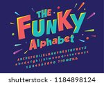 colorful stylized font and...