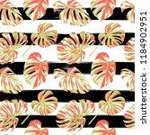 tropical print. jungle seamless ... | Shutterstock .eps vector #1184902951