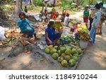 siem reap region cambodia march ... | Shutterstock . vector #1184910244