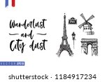 travel paris promo flyer.... | Shutterstock .eps vector #1184917234