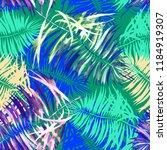tropical watercolor seamless...   Shutterstock . vector #1184919307