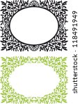 Frames with leaves and branches of mistletoe - stock vector