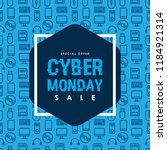 cyber monday sale design on... | Shutterstock .eps vector #1184921314
