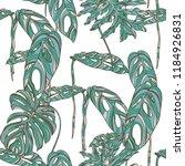 tropical leaves on white... | Shutterstock .eps vector #1184926831