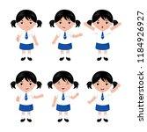 collection of girls in school... | Shutterstock .eps vector #1184926927