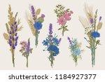 set bouquets. design elements.... | Shutterstock .eps vector #1184927377