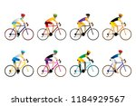 athlete cyclist isolated on... | Shutterstock .eps vector #1184929567