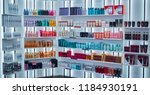 modern beauty salon interior.... | Shutterstock . vector #1184930191