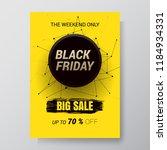 black friday sale abstract...   Shutterstock .eps vector #1184934331