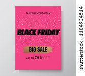 black friday sale abstract...   Shutterstock .eps vector #1184934514