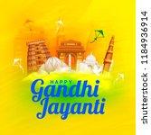 illustration of gandhi jayanti... | Shutterstock .eps vector #1184936914