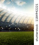 soccer stadium  photorealistic... | Shutterstock . vector #1184942221