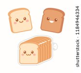 cute cartoon slices of bread... | Shutterstock .eps vector #1184946334
