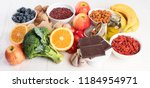 food sources of natural... | Shutterstock . vector #1184954971