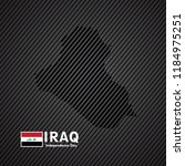 happy iraq independence day... | Shutterstock .eps vector #1184975251
