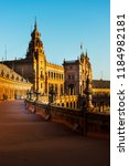 the spain square is a plaza in... | Shutterstock . vector #1184982181