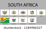 all flags of regions of south... | Shutterstock .eps vector #1184986327