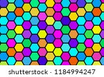 honeycomb many color ... | Shutterstock . vector #1184994247