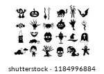 vector cartoon black and white... | Shutterstock .eps vector #1184996884
