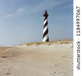 hatteras lighthouse in original ... | Shutterstock . vector #1184997067
