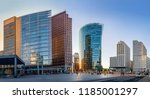 panoramic view at the potsdamer ... | Shutterstock . vector #1185001297