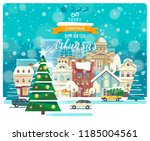merry christmas and happy new... | Shutterstock .eps vector #1185004561