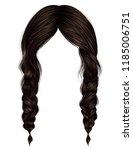 trendy women hairs brunette... | Shutterstock .eps vector #1185006751