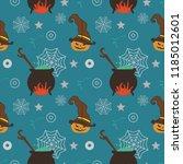halloween witch pumpkin web and ...   Shutterstock .eps vector #1185012601