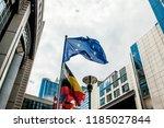 brussels  belgium   may 20 ... | Shutterstock . vector #1185027844