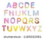colorful hand painted uppercase ... | Shutterstock . vector #1185032581