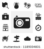 set of 12 editable trip icons.... | Shutterstock .eps vector #1185034831