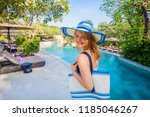 woman enjoying vacation in... | Shutterstock . vector #1185046267