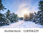 Winter Landscape. Composition...