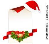 Christmas Card And Santa Hat  ...