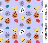 halloween pumpkin candy and... | Shutterstock .eps vector #1185072781