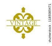 flourishes calligraphic art... | Shutterstock .eps vector #1185085471