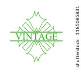 flourishes calligraphic art... | Shutterstock .eps vector #1185085831
