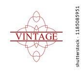 flourishes calligraphic art... | Shutterstock .eps vector #1185085951