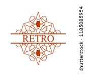 flourishes calligraphic art... | Shutterstock .eps vector #1185085954