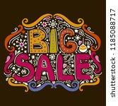 big sale   hand drawn lettering. | Shutterstock . vector #1185088717