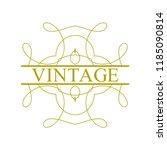 flourishes calligraphic art... | Shutterstock .eps vector #1185090814